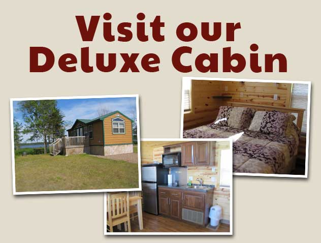 Visit our Deluxe Cabin at the Camping Pokemouche